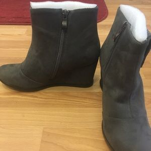 Shoes - Wedge booties, never worn